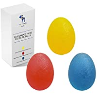 The Friendly Swede 3 Stück Eiförmige Griffbälle - ideal als Handtrainer oder...