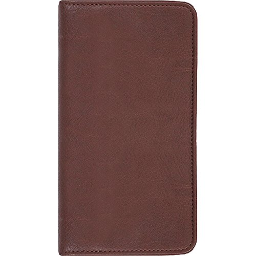 Scully Calfskin Leather Pocket Weekly Planner (Chocolate)