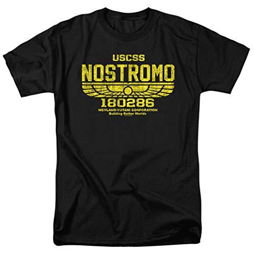 Alien USCSS Nostromo Vintage Logo Black T Shirt - Logo Vintage Black T-shirt