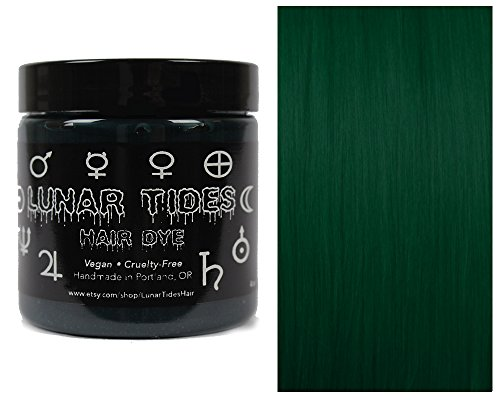 Lunar Tides Hair Dye - Juniper Dark Forest Green Semi-Permanent Vegan Hair Color (4 fl oz / 118 ml) -