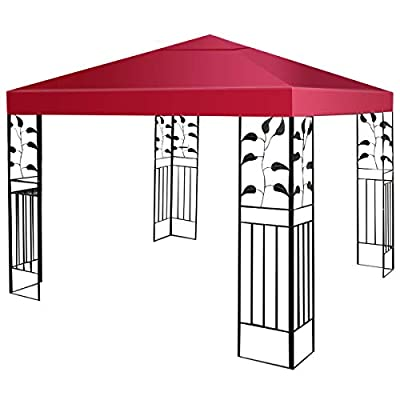 HAPPYGRILL 10'x10' Large Canopy Cover, Outdoor Patio Gazebo Replacement Top Cover : Garden & Outdoor