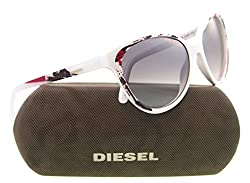 Diesel sunglasses DL 0009 sunglasses 24C White with multicolor print 57mm