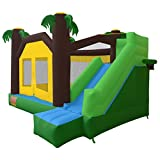 Cloud 9 Jungle Jumper Bounce House - Inflatable Bouncer with Climbing Wall & Slide, without Blower