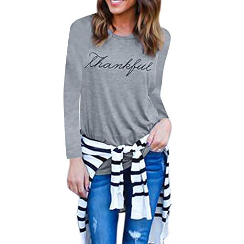 (Orangeskycn 2018 Fashion Womens Pullover Letter Printed Long Sleeve Blouse)