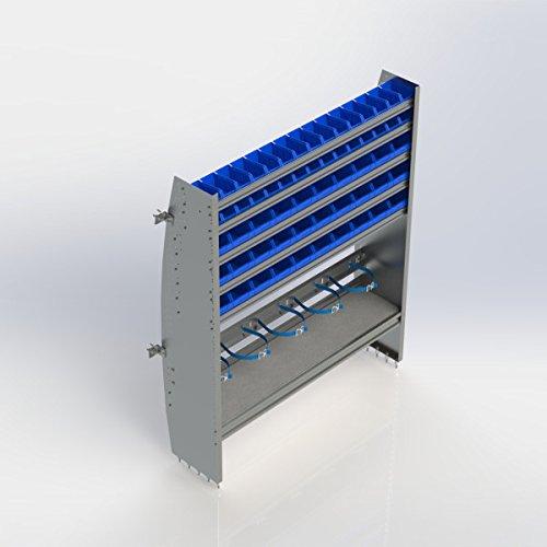 Ranger Design Contoured refrigerant bin unit, aluminum, 60