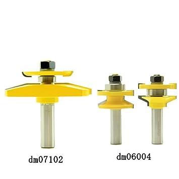 dms15004 ドアパネル・バックカッター付3点セット(べベル)ルータービット1/2Microtungsten carbide