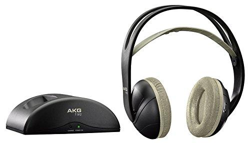 AKG K912 Casque Audio Stéréo Sans Fil Bluetooth – Station de Chargement pour Appareils iOS/Android – Noir [Ancien modèle]