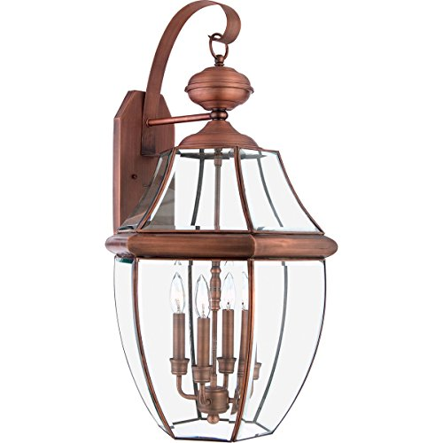 Quoizel NY8339AC Newbury 4 Light 29 inch Aged Copper Outdoor Wall Lantern (item_by#lnylightingoutlet_420131867281717