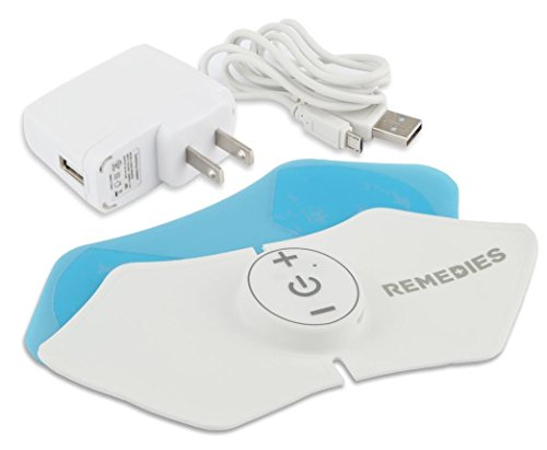 Electronic Pain Relief Pad Patch, Rechargeable,Adapter included by REMEDIES