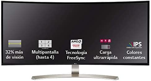 LG 34UC99-W - Monitor Profesional Curvo UltraWide WQHD de 86.7 cm ...