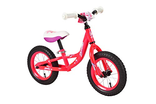 Tetran Kids - 12 Inch Balance Bikes DLX, Ages 2 to 5, Multi-Colors for Boys and Girls (Hot Pink) ()