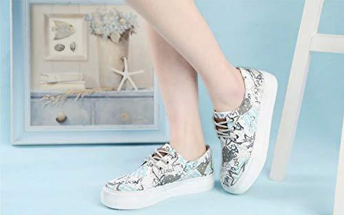 Para Las Deporte Mujeres Lona Casuales Ysfu Impresos Zapatos Zapatillas De qHczt