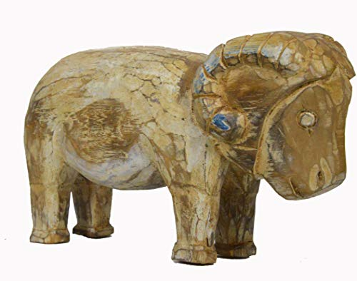 Folk Art Wood Ram Sheep Hand Carved Vintage Antique Country Farm Barn Americana Decor ()