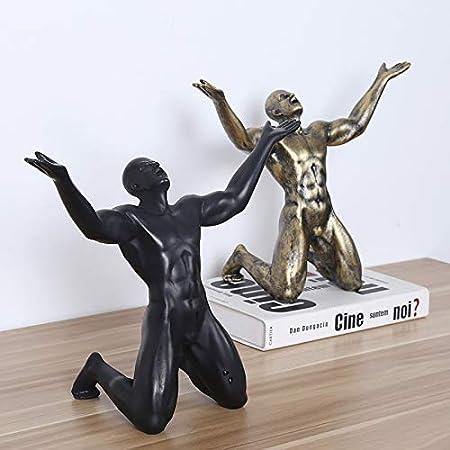 LKXZYX Boda Decoracion Figuras de Grandes Salon candelabros Jardin Exterior,Grita Dos Figuras estatuas Adornos Adornos Accesorios para el hogar: Amazon.es: Hogar