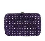 Gucci Women's Purple Suede Broadway Crystal Evening Clutch Bag 310005 5162