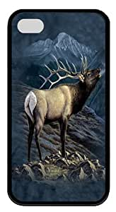 Case For Samsung Galaxy S5 Cover, Case For Samsung Galaxy S5 Cover -Exalted Ruler Elk Custom PC Soft Protector Case For Samsung Galaxy S5 Cover Black