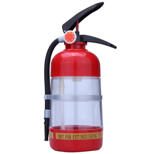 Thirst Extinguisher Red Fire Novelty Drink Dispenser Cocktail Shaker -