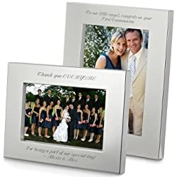 Personalized silverplate Picture Frame 4x6