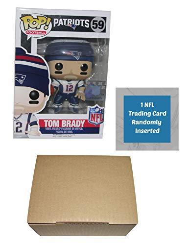 Funko Tom Brady New England Patriots Pop Vinyl Figure Bundle with 1 NFL Trading Card & 1 Cardboard Protector Box ()