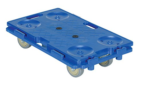 Vestil PCS-1626 Plastic Interlocking Dolly with Polypropylene Caster, 250 lbs Capacity, 16