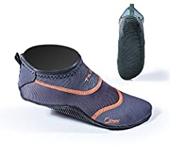 The Osmos by Tilos is the next generation in minimalist water shoes. The unique ventilated neoprene on the upper provides UV and thermal protection without creating a clammy feel when things heat up. The tatex rubber sole is vented to allow w...