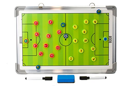2RGarry Magnetic Basketball Soccer Coaches Clipboard, Dry Erase Marker Board (Soccer)