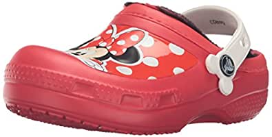 crocs CC Minnie Lined Clog (Toddler/Little Kid), Pepper, 6/7 M US Toddler
