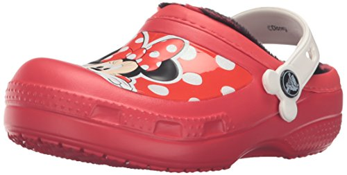crocs CC Minnie Lined Clog (Toddler/Little Kid), Pepper, 6/7 M US Toddler by Crocs