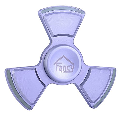 Fancy Home Anti-Anxiety Quiet Tri Fidget Hand Spinner EDC Toy for Relief from ADD ADHD, Anxiety and Boredom,Ceramic Bearing Last 5-8 Minutes Glow in The Dark Silver by Fancy Home (Image #7)