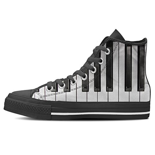 Gnarly Tees Herren Klaviertastatur Schuhe High Top Schwarz
