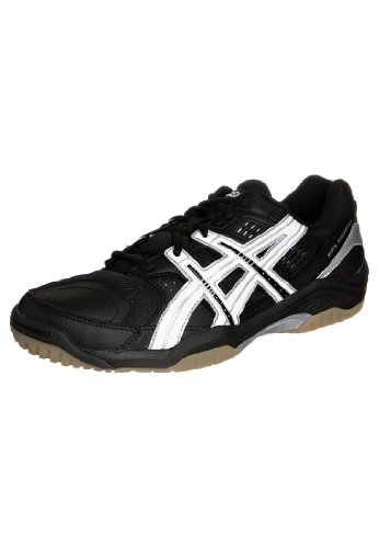 Asics - Mens Gel Squad Handball Shoes Black/White/Silver