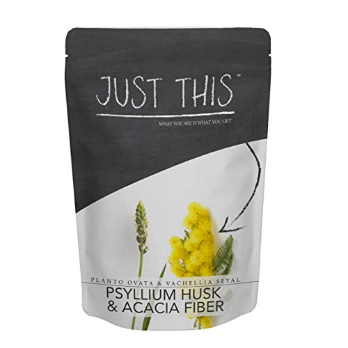 Psyllium Acacia Prebiotic Fiber Supplement – 1LB – 50/50 Powder Blend, Help Digestion, Support Gut Health and Weight Loss – Simply Mix Superfood in Water or Smoothie – Just This™