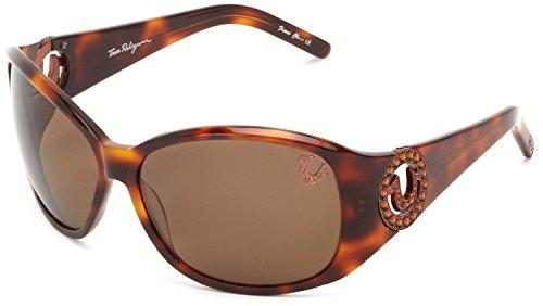 True Religion Sunglasses Women's Georgi Rectangular, Tortoise, 64 ()