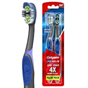 Colgate 360 Floss Tip Sonic Power Toothbrush, Soft, 2 Count