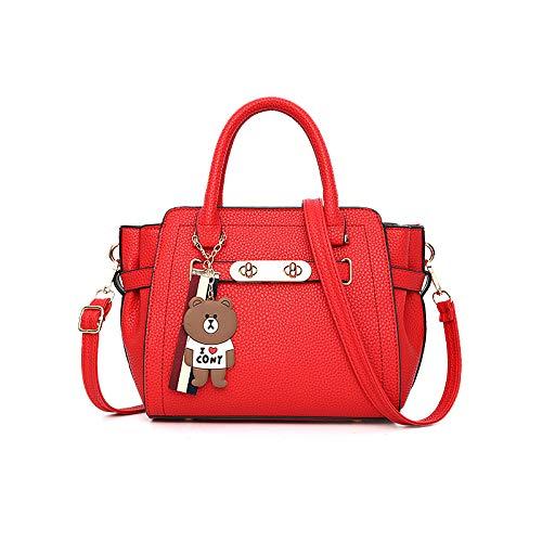 Vino Mujer Versátil Bandolera Tinto Moda Bolso Para De Atmosférica Xmy Caucho Rojo ZwqSOFxvE