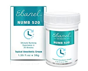 Numb 520 (1.35oz / 38g) 5% Lidocaine, Liposomal Technology for Deeper Penetration, Topical Numbing Cream, Local and Anorectal Discomfort (1 Oz)
