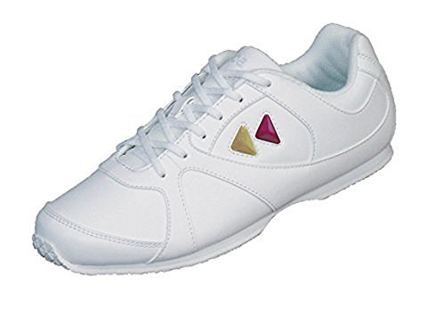 Kaepa Women's Cheerful Cheer Shoe with Color Change Snap in Logo, White, Size 8 (Kaepa Cheerleading Shoes)