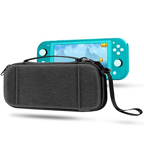 Compatible with Switch Lite Case EVA Protective Carrying Case for Switch Lite Cover Video Game Accessories for Nintendo Switch Lite Gifts for Men Husband Kids Teens (BlackCloth)