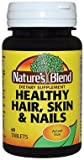Nature's Blend Healthy Hair, Skin & Nails, 60 Tablets (Pack of 12)