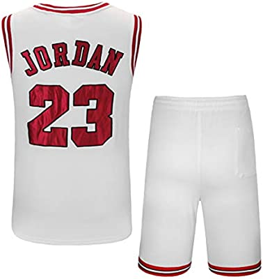 Rying Masculino Campeón de Vintage Michael Jordan Jersey# 23 ...