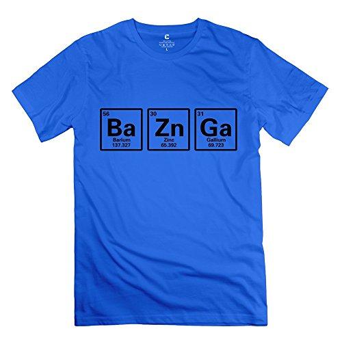 TGRJ Men's T Shirt - Funny TBBT Ba Black Ba Zn Ga Bazinga Sheldon Big Bang Theory T-shirt RoyalBlue Size XXL