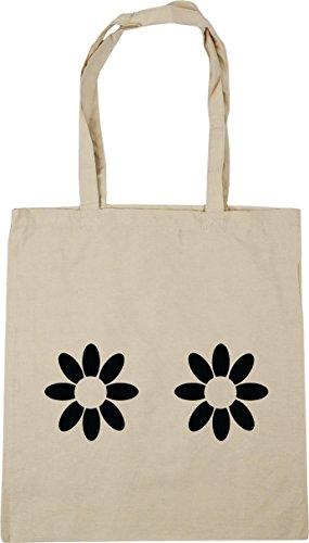 42cm Tote pattern Daisy x38cm Gym Bag HippoWarehouse Natural litres Shopping Beach 10 qZ0nxB
