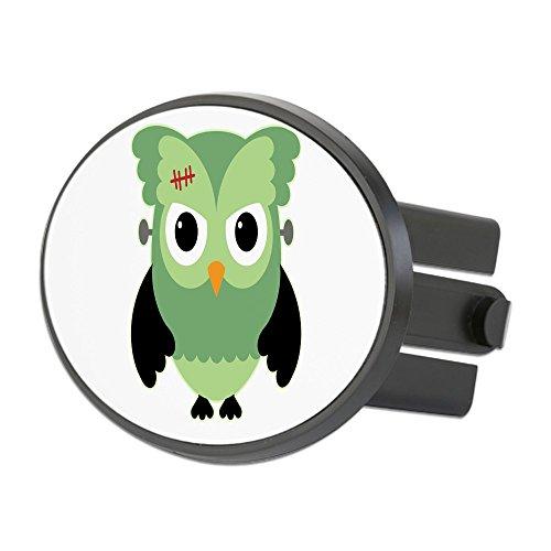 Oval Hitch Cover Spooky Little Owl Frankenstein Monster]()