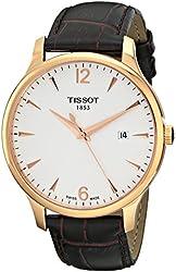 Tissot Men's TIST0636103603700 Tradition Analog Display Quartz Brown Watch