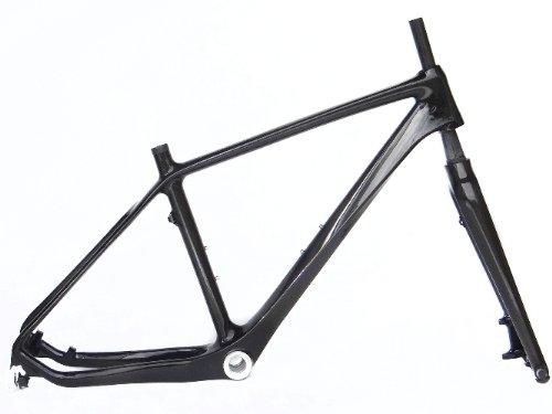 """Full Carbon 3K Glossy 26er Mountain Bike MTB 26"""" Wheel Frame And Fork 18"""" Size M"""