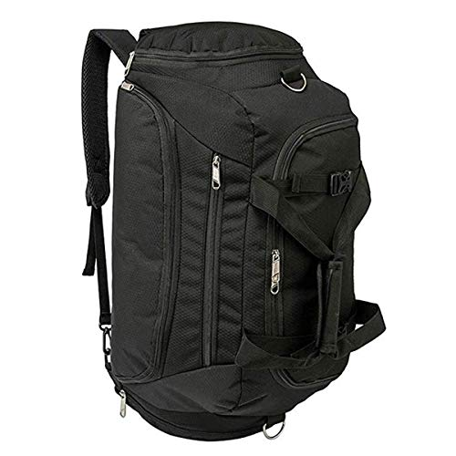 HAOMUK Sports Gym Bag, 3-Way Gym Duffle Bag Backpack with 2 Shoes Compartment Waterproof Large Bag Travel Exercise Luggage Weekender Overnight Bag for Men/Women 40L
