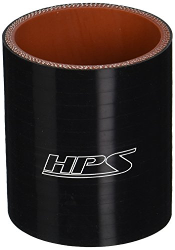 HPS HTSC-225-BLK Silicone High Temperature 4-Ply Reinforced Straight Coupler Hose, 100 PSI Maximum Pressure, 3