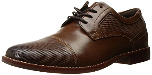 Shoe Carolina Oxfords (Rockport Men's Style Purpose Cap Blucher Oxford, Brown Leather, 9.5 M US)
