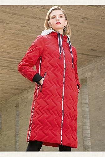 Sijux Piumino Imbottito Ultraleggero Leggero da Donna con Cappuccio, Capispalla Invernale Calda Casual,Red,M