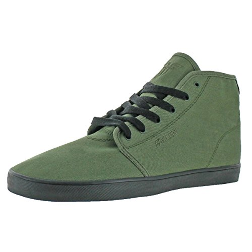 Fallen Mens Daze High Vegan Vulc Skate Shoes Green 7 Medium (D)